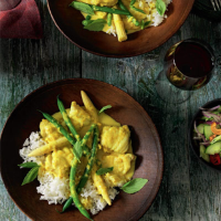 Yellow monkfish curry