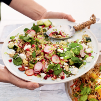 Zesty pomegranate & quinoa salad