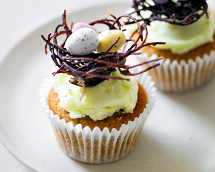 Martha's Easter nest cupcakes