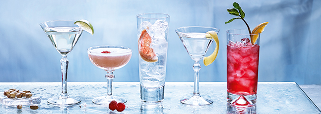 Classic gin cocktails
