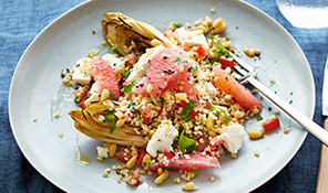 Warm tabbouleh with chicory