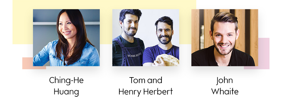 Ching-He Huang, Tom and Henry Herbert and John Whaite