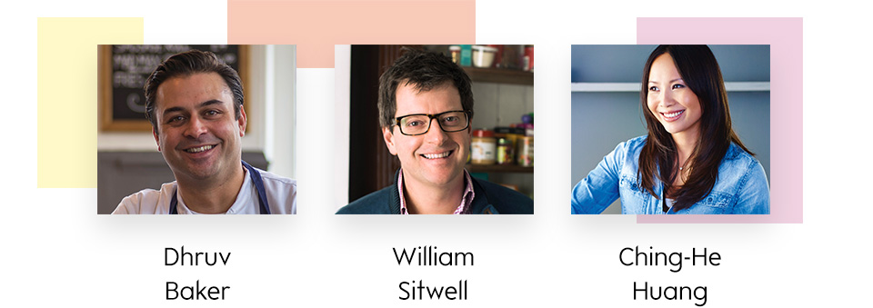 Dhruv Baker, William Sitwell and Ching-He-Huang