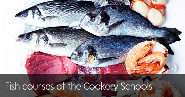Fish courses at the Cookery Schools