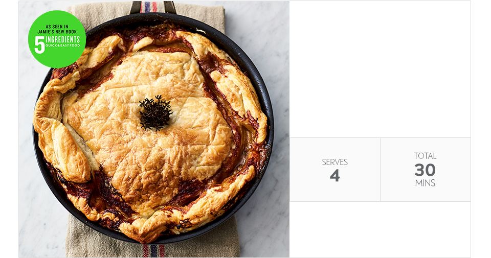 Jamie Oliver's chicken pot pie