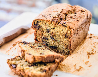 Courgette, lime & chocolate chip loaf cake