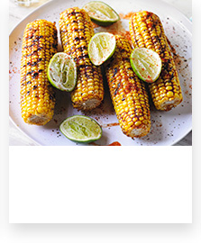 Barbecued sweetcorn with a smoky rub
