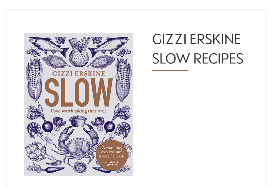 Front cover of Gizzi Erskine Slow Recipe book