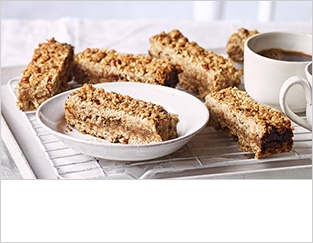 Gooseberry and pecan oat bars