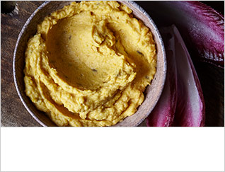 Squash, butter bean and tahini dip