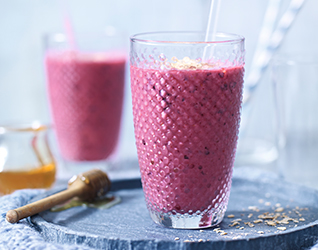 Mixed berry breakfast smoothie