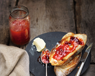 Plum and apple jam
