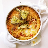 Baked-rice-with-artichokes