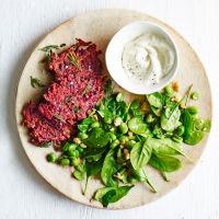 Beetroot-fritters