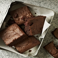 James Tanner's black forest brownies