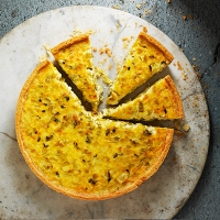 Leek and parmesan tart