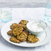 Spiced-courgette-and-carrot-fritters-with-raita