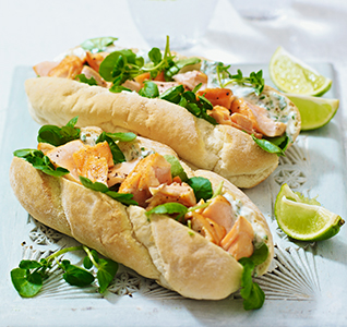 Salmon & watercress subs