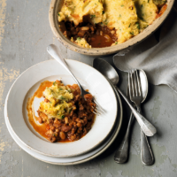 A cottage pie for lighter eating
