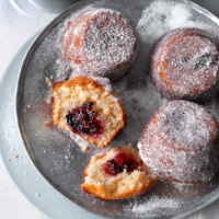 Blackberry doughnut muffins