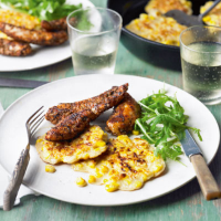 Chicken and corn fritters