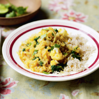 Cauliflower and spinach dhal