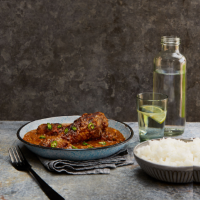 Caribbean mango chutney chicken and tomato curry