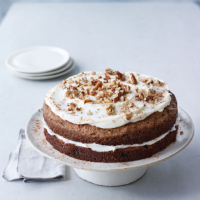 Carrot & pecan cake with cream cheese frosting