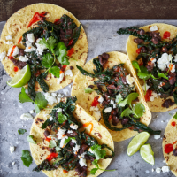 Cavolo nero and black bean tacos