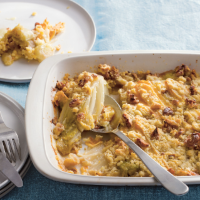 Chicory and Reblochon gratin
