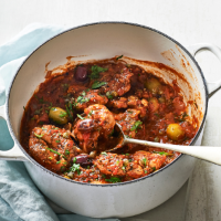 Chicken, olive and caper ragu