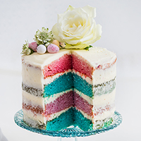 Easter coconut vanilla naked cake