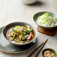 Hot & sour Thai prawn soup