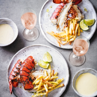 Lobster & fries with yuzu hollandaise