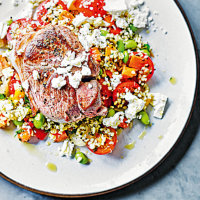 Lamb, feta & bulgur salad