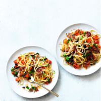 Mackerel linguine