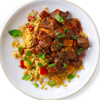 Moroccan lamb tagine with honey and almonds