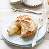 Mango and coconut custard tarts