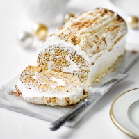 Martha Collison's gingerbread yule log