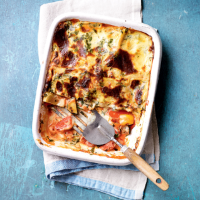No-cheese vegetable lasagne