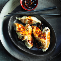 Prawn and pork potstickers