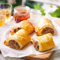 Pork and herb sausage rolls