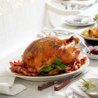 Roast turkey with citrus & herb butter