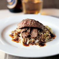 Seared Beef with Shredded Cabbage
