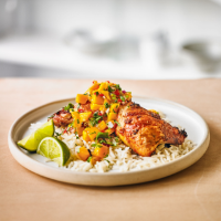 Spicy chicken & mango salsa