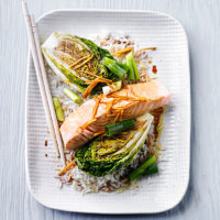 Steamed salmon & ginger