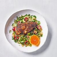 Spiced chicken with cherry couscous
