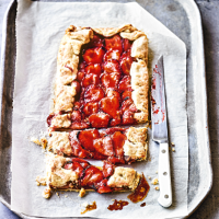 Strawberry & almond galette