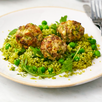 Turkey meatballs with green couscous