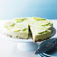 Zesty Lime Cheesecake with a Crunchy Biscuit Base